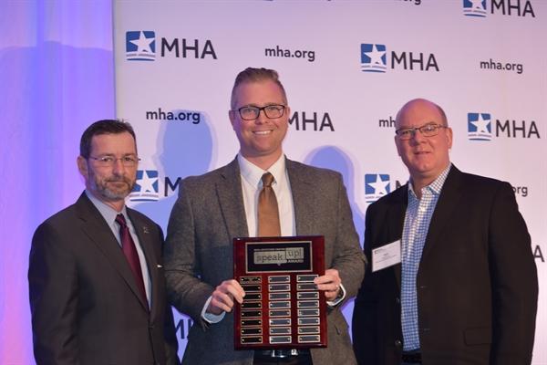 Seth Raymond, DO, Bronson Methodist Hospital, Kalamazoo, received the 2016 annual MHA Keystone Center Speak-up! Award.