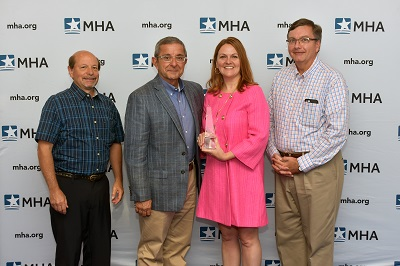 Helen Johnson, chief nursing officer, Spectrum Health Ludington Hospital, was honored with the 2018 Healthcare Leadership Award.