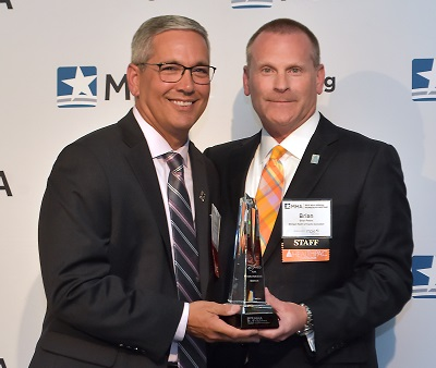 2018 Meritorious Service Award winner Rob Casalou, president and CEO of Mercy Health and Saint Joseph Mercy Health System.