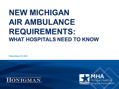 New Michigan Air Ambulance Requirements: What Hospitals Need to Know