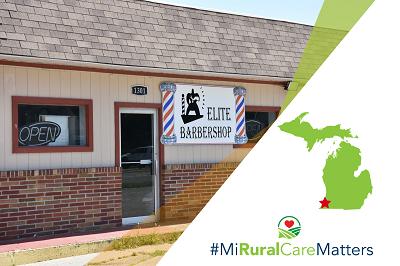 MiRuralCareMatters at Elite Barbership in southwest Michigan